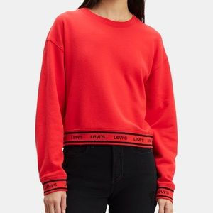✨Levi's Cropped Fleece Logo Sweatshirt